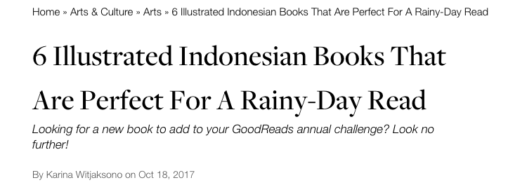 6 Illustrated Indonesian Books That Are Perfect For A Rainy-DayRead